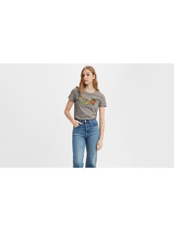 LEVIS - The Perfect Tee Bw Fill Strawberryland S Grey