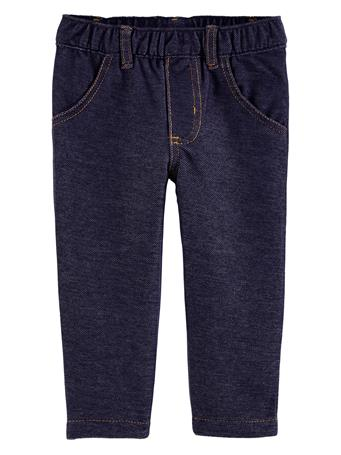 CARTERS - Pull-On Knit Denim Pants NO COLOR