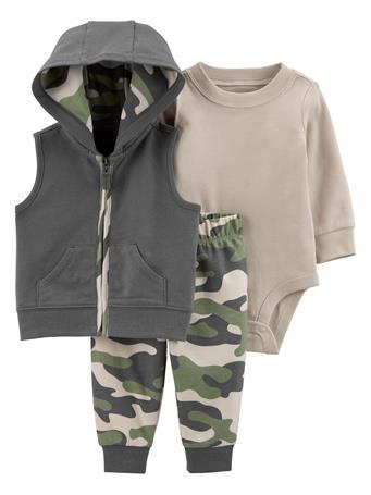CARTERS - 3-Piece Little Vest Set NO COLOR