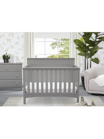 DELTA - Fancy Solid Back Crib GREY