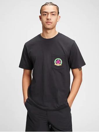 GAP - Graphic Pocket T-Shirt MOONLESS NIGHT