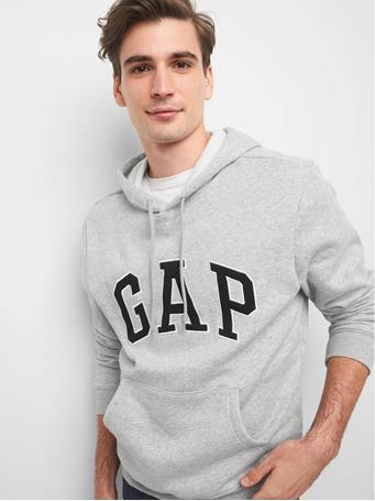 GAP - Logo Fleece Hoodie LIGHT HEATHER GREY