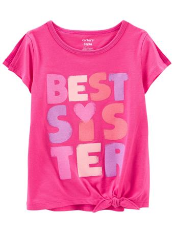 CARTERS - Best Sister Jersey Tee PINK