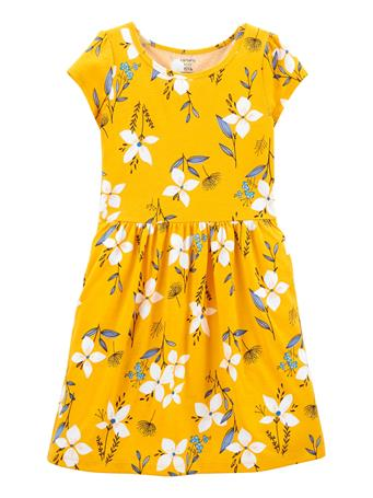 CARTERS - Floral Jersey Dress GOLD
