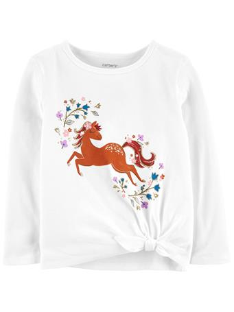 CARTERS - Horse Jersey Tee IVORY