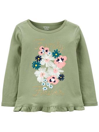 CARTERS - Floral Jersey Top SAGE