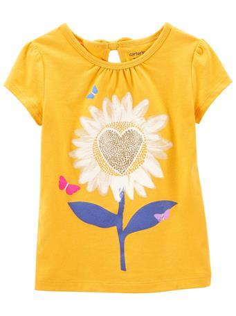 CARTERS - Sunflower Jersey Tee YELLOW