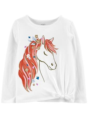 CARTER'S - Horse Jersey Tee IVORY