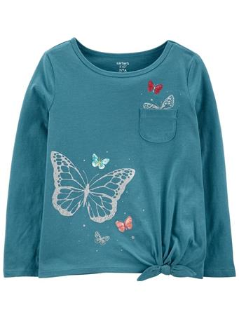 CARTER'S - Butterfly Jersey Tee TEAL