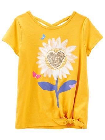 CARTERS - Sunflower Jersey Tee GOLD
