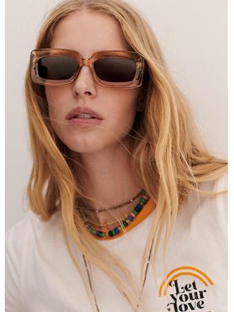 MANGO - Retro Style Sunglasses NATURAL WHITE