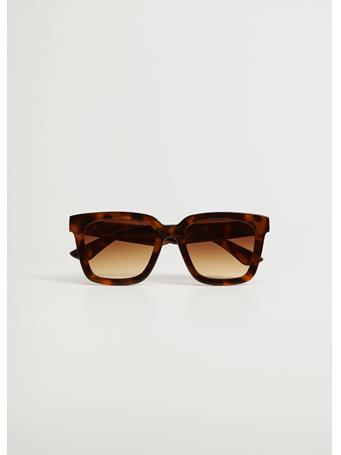 MANGO - Oversize Sunglasses DARK BROWN