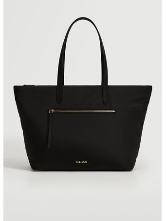MANGO - Pocket Shopper Bag BLACK