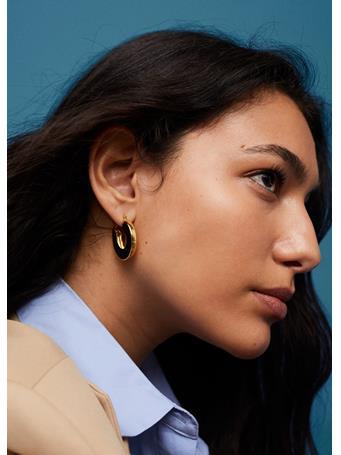 MANGO - Metallic Hoop Earrings GOLD