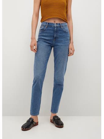 MANGO - Mom-fit Jeans MEDIUM BLUE
