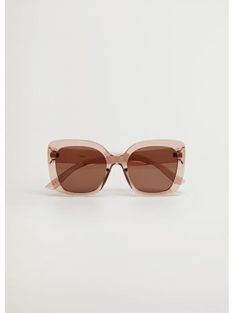 MANGO - Clear Frame Sunglasses LT PINK