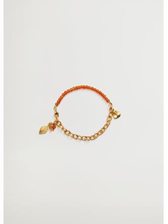 MANGO - Mixed Bead Anklet GOLD