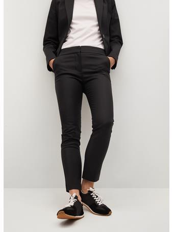 MANGO - Suit Slim-fit Pants BLACK