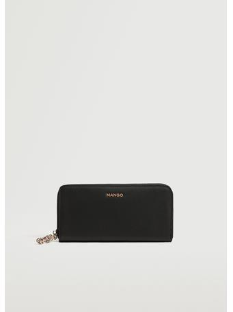 MANGO - Knot Saffiano-effect Wallet BLACK