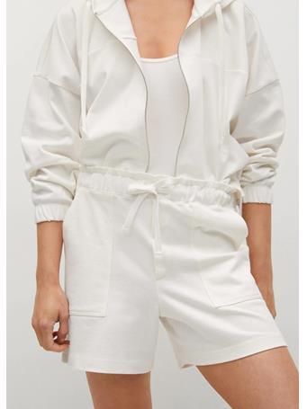 MANGO - Pockets Cotton Shorts WHITE