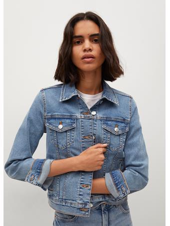 MANGO - Cotton Denim Jacket MEDIUM BLUE
