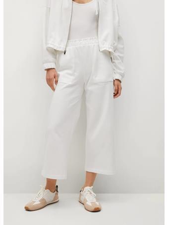 MANGO - Pocket Cotton Pants WHITE