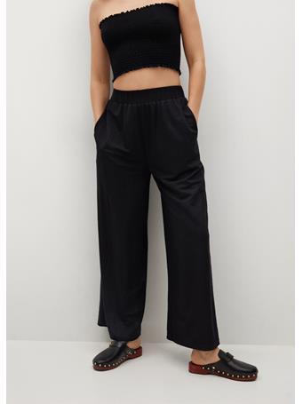 MANGO - Fluid Culotte Pants BLACK