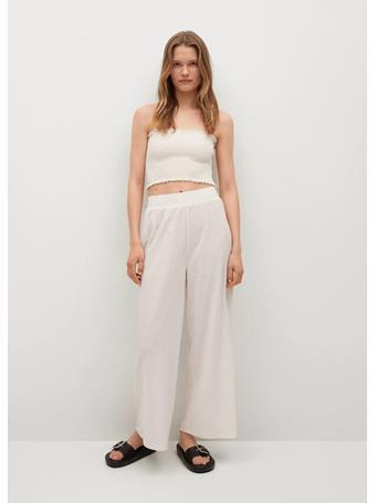 MANGO - Fluid Culotte Pants NATURAL WHITE