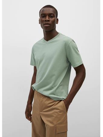 MANGO - Sustainable cotton t-shirt GREEN