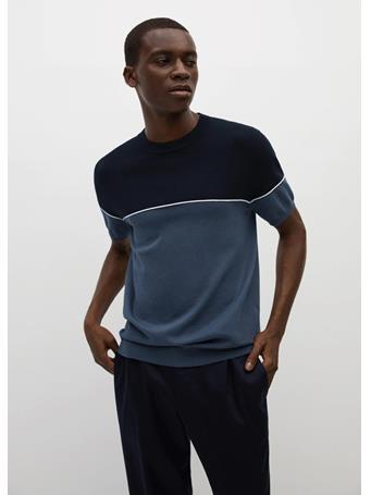 MANGO - Combined modal cotton jersey t-shirt PETROL