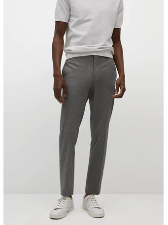MANGO - Trousers Fabreg GREY