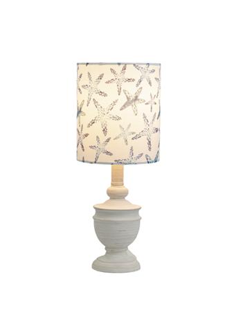 GANZ - Whitewash Accent Lamp With Starfish Shade WHITE