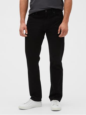 GAP - Straight Fit Jeans TRUE BLACK