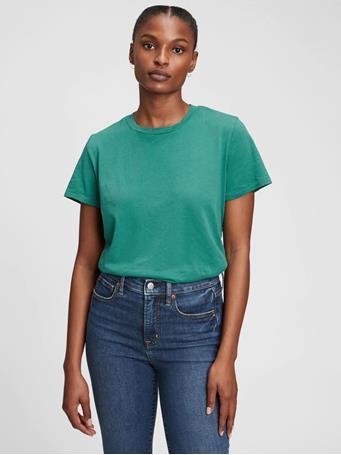 GAP - 100% Organic Cotton Vintage T-Shirt BALSAM GREEN