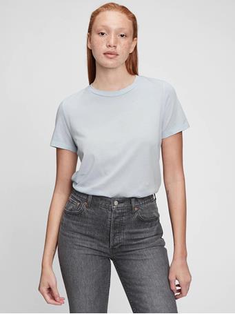 GAP - 100% Organic Cotton Vintage T-Shirt ICE BLUE 740