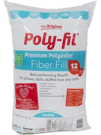 FAIRFIELD - Poly-Fil Fiber Fill - Assorted Sizes No Color