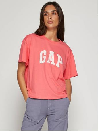 GAP - Logo Easy Heavyweight T-Shirt SWEETHEART PINK