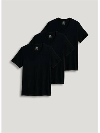 JOCKEY - 3 Pack V-Neck T-Shirt 001 BLACK