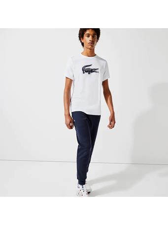 LACOSTE - 3D Print Crocodile Breathable Jersey T-shirt WHITE