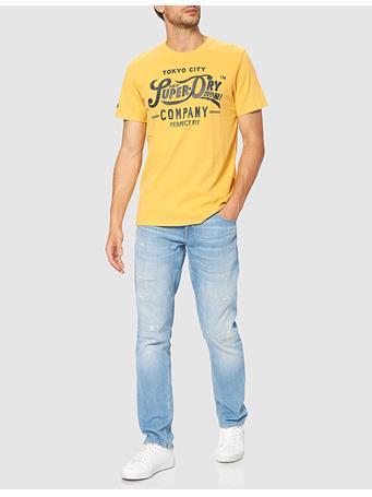 SUPERDRY - Script Style Col T-Shirt OCHRE