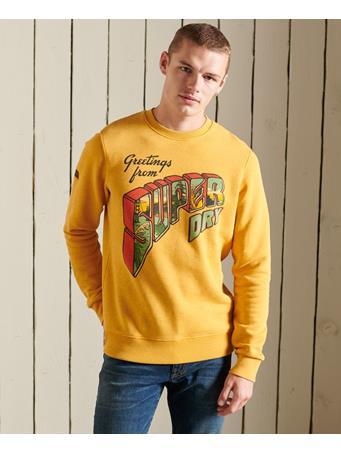 SUPERDRY - Heritage Mountain Crew Sweatshirt GOLD