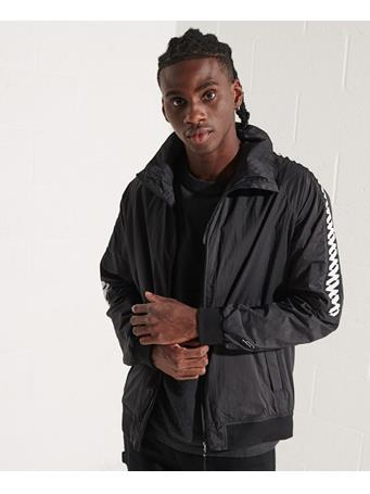 SUPERDRY - Non Hooded Track Wind Runner Jacket BLACK