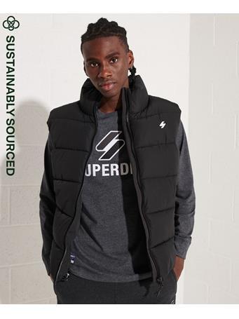 SUPERDRY - Sports Puffer Gilet BLACK