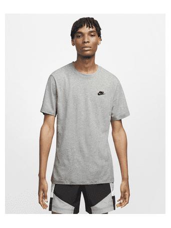 NIKE - Sportswear Club Men's T-Shirt DARK GREY HEATHER ( BLACK)