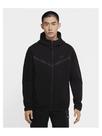 NIKE - Sportswear Tech Fleece Men's Full-Zip Hoodie BLACK (BLACK)