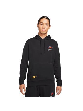 NIKE - Sportswear Essentials+ Men's French Terry Hoodie BLACK (BLACK)