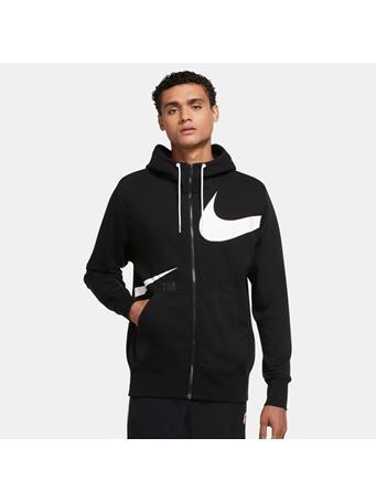 NIKE - Sportswear Swoosh Full-Zip Hoodie BLACK (WHITE)