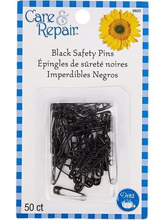 CARE & REPAIR - Black Safety Pins No Color