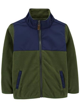 CARTER'S - Zip-Up Fleece Jacket OLIVE