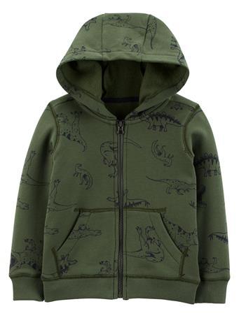 CARTER'S - Zip-Up Fleece Hoodie OLIVE